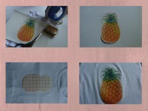 DIY pineapple print