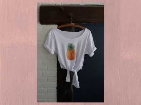 Croptop pineapple DIY