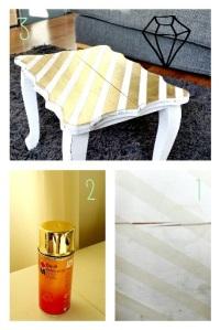 Do It spraypaint goud tafel