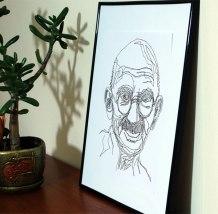 Gandhi van punt naar pun