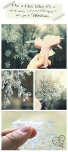 Sneeuwsterren maken met lijmpistool